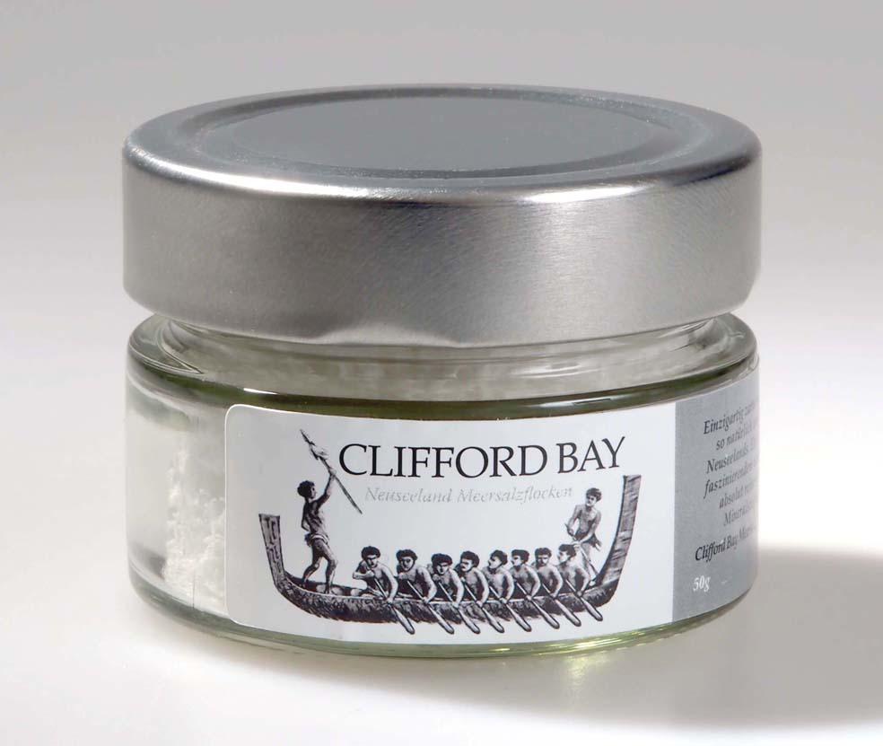Meersalzfloken Clifford Bay 50g kaufen - Echtes Meersalz aus Neuseeland