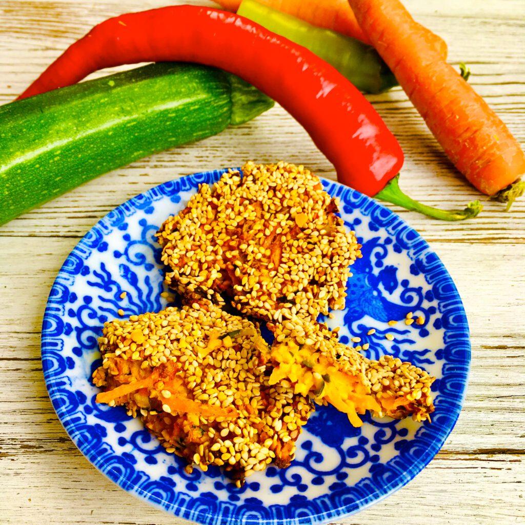 Möhren Peperoni Lupinen Patties
